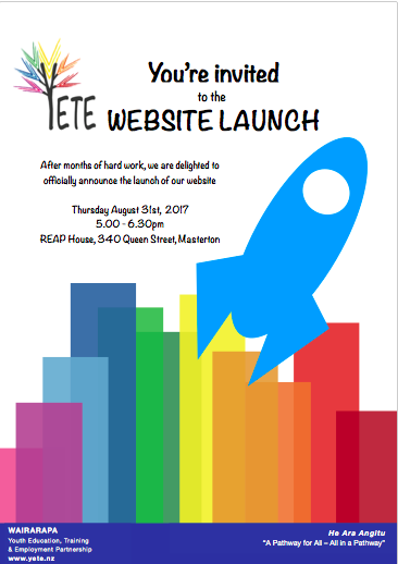 YETE Website Launch – 31 August 2017