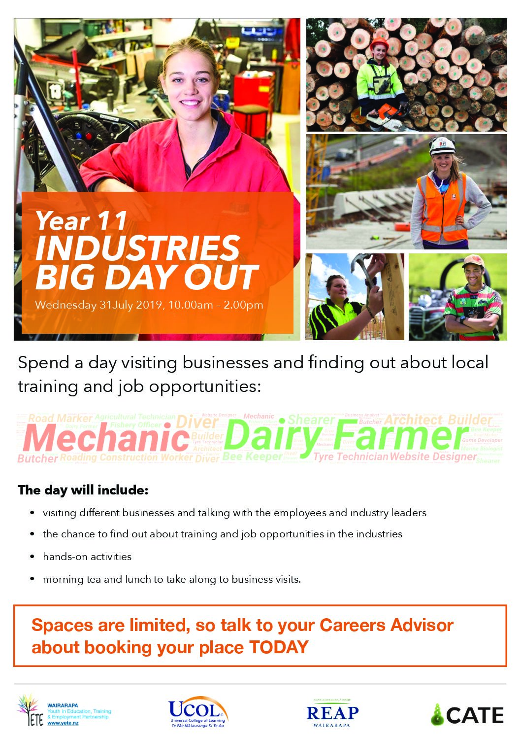 Year 11 Industry Big Day Out – 31 July, 2019