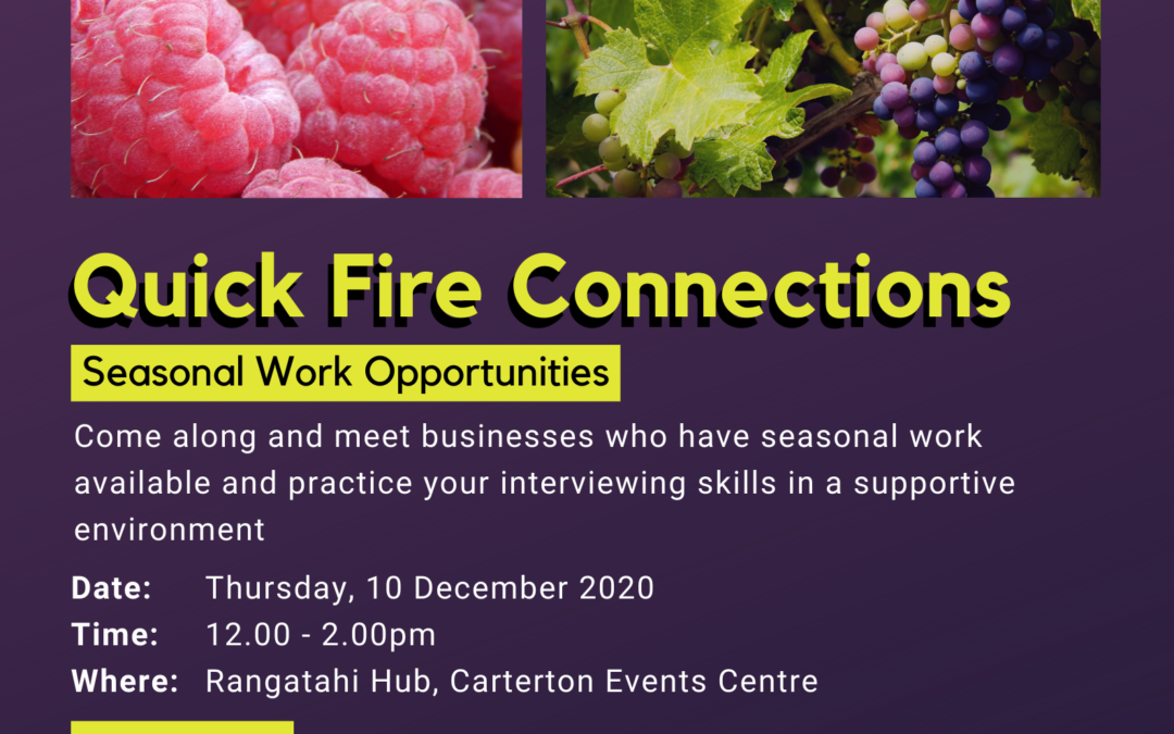 Quick Fire Connections – Seasonal Work Opportunities